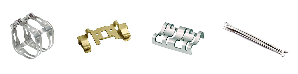 Left to right - Complex Rapid Prototyping with Metal Stamping, Electrical Rapid Prototype Metal Stamping, Wire EDM and Forming of Prototype Part, Difficult Multi Piece Medical Device Prototype Assembly