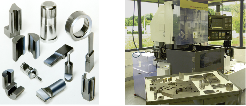 Examples of Wire EDM Precision Tooling Components